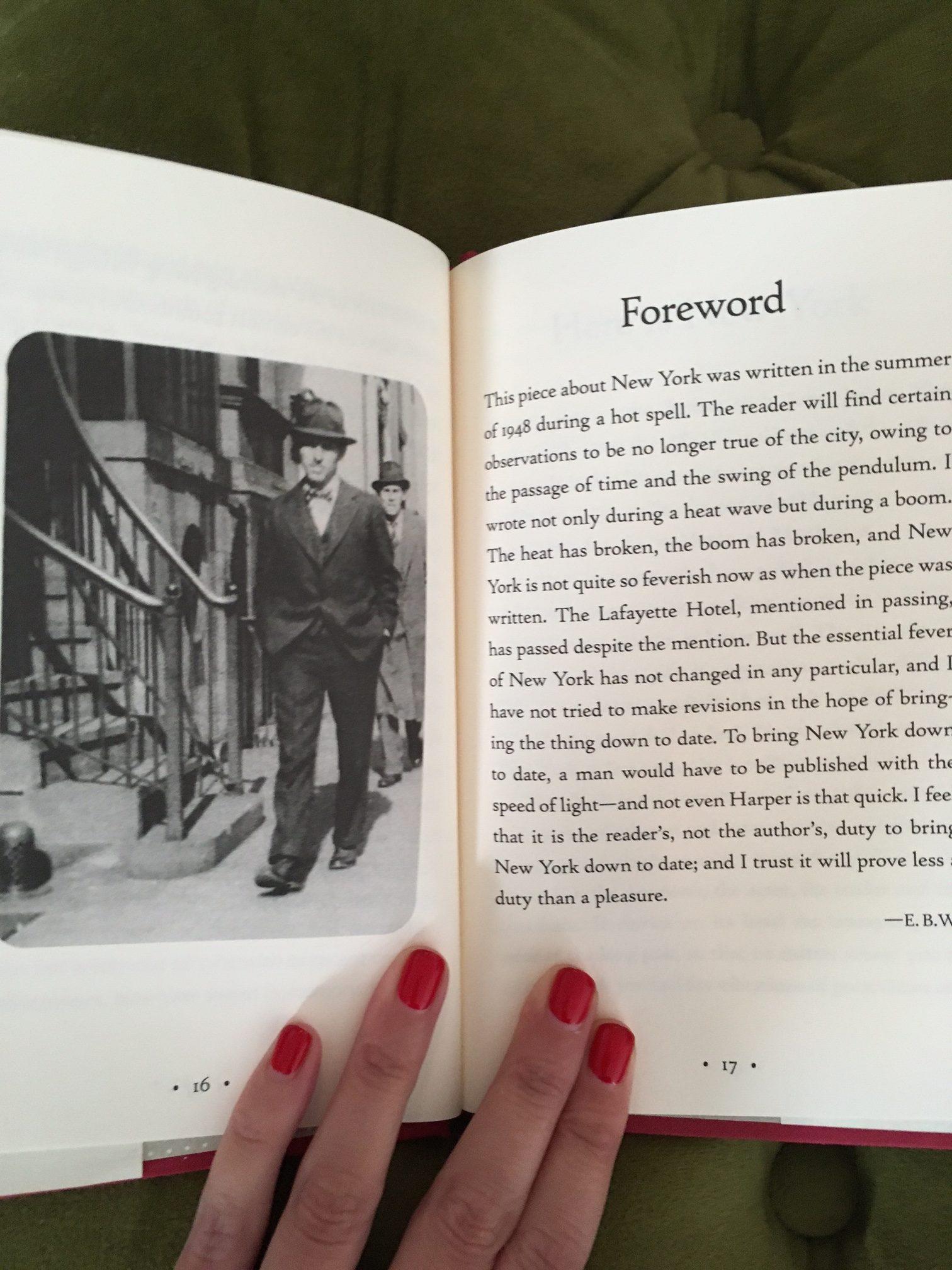 eb white essay new york